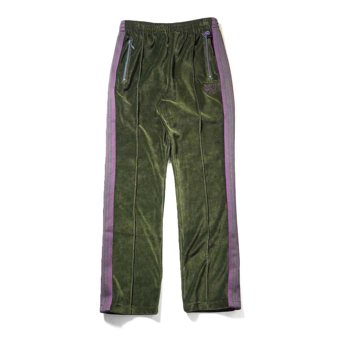 Needles / NARROW TRACK PANT - C/PE VELOUR (Green)正面