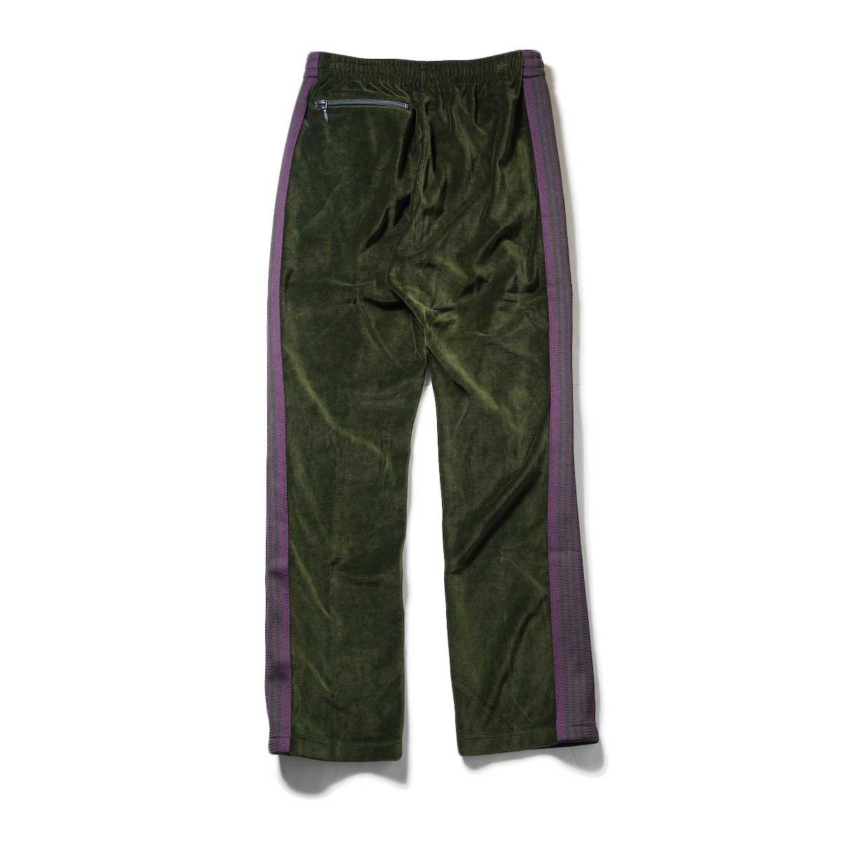 Needles / NARROW TRACK PANT - C/PE VELOUR (Green)背面
