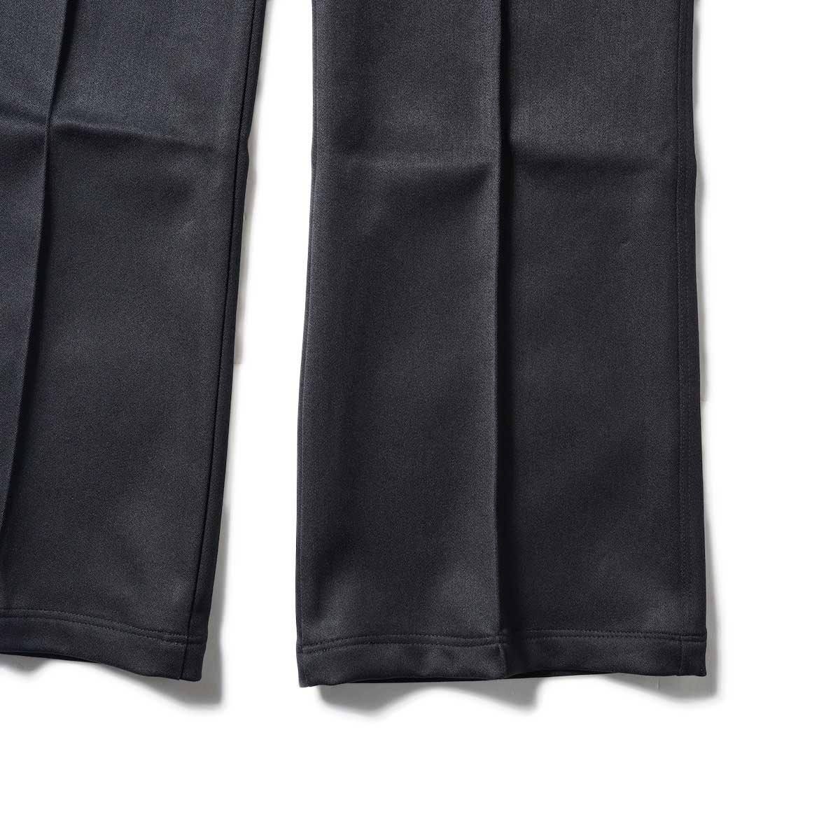 Needles / W.U. BOOT-CUT PANT - PE/R DOESKIN (Black)裾