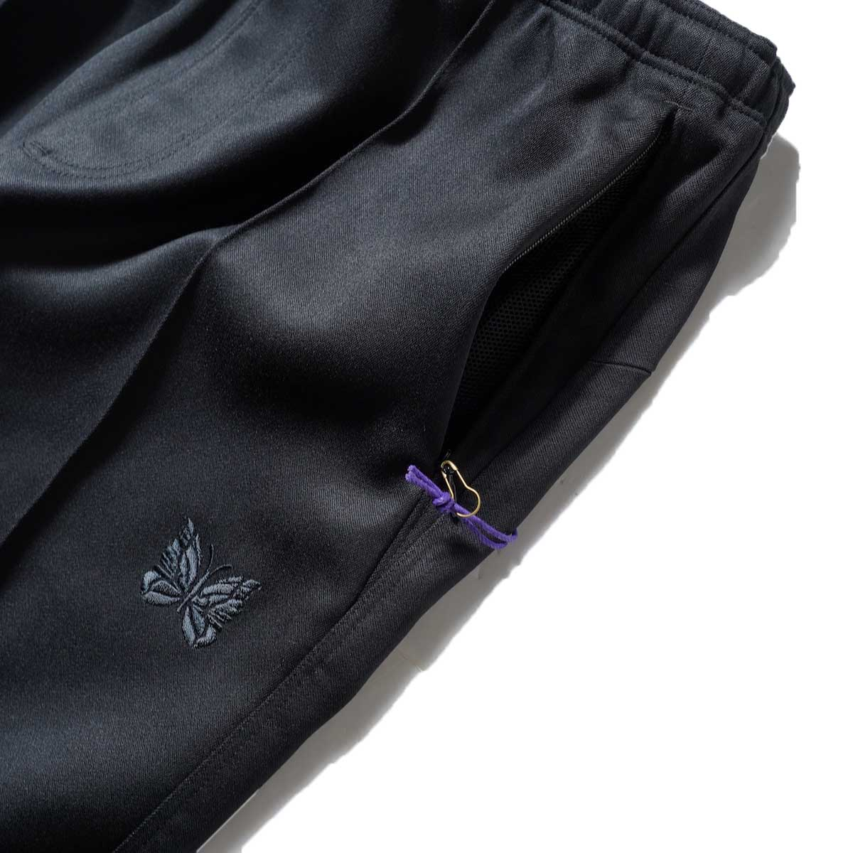 Needles / W.U. BOOT-CUT PANT - PE/R DOESKIN (Black)サイドポケット