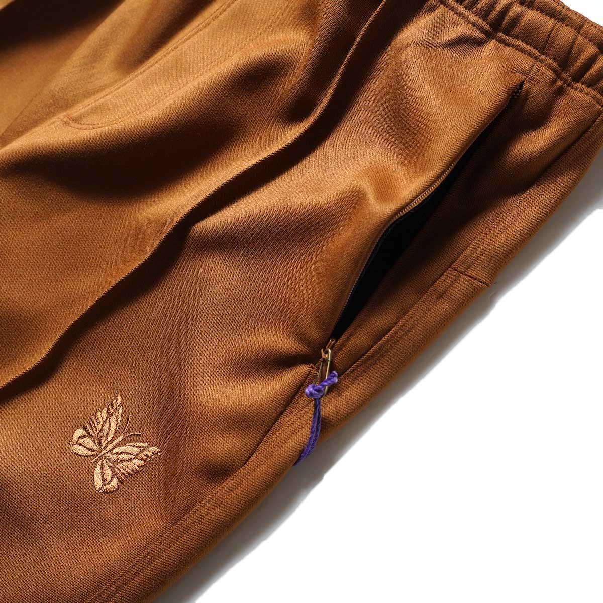 Needles / W.U. BOOT-CUT PANT - PE/R DOESKIN (Brown)サイドポケット