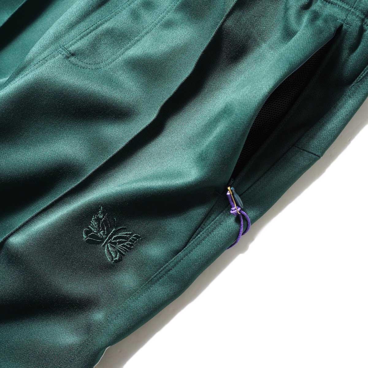 Needles / W.U. BOOT-CUT PANT - PE/R DOESKIN (Green)サイドポケット