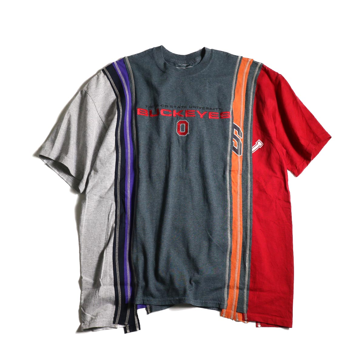 Rebuild by Needles / 7 Cuts Wide Tee - College (C)