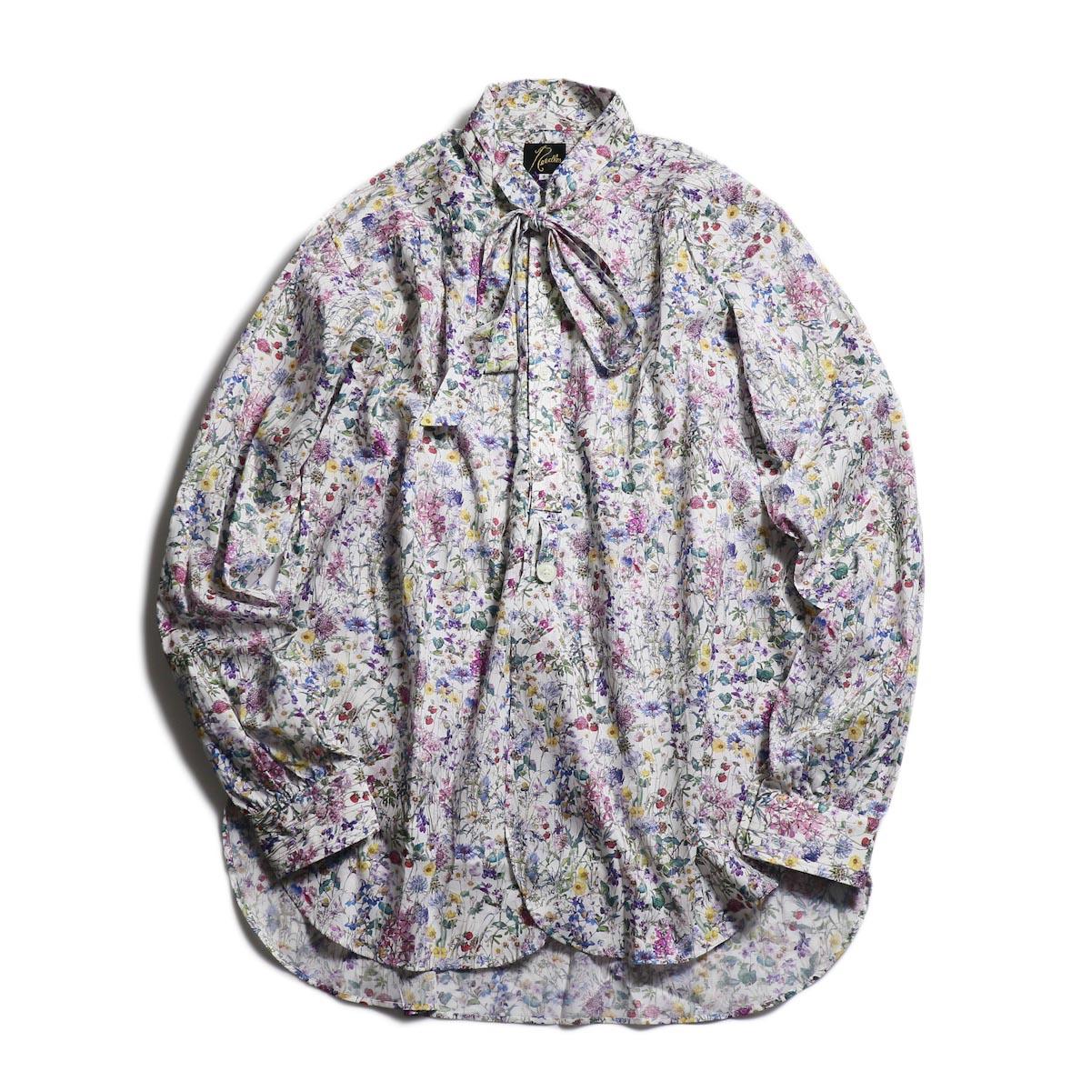 NEEDLES / Ascot Collar Edw Gather Shirt -Liberty Print(White)