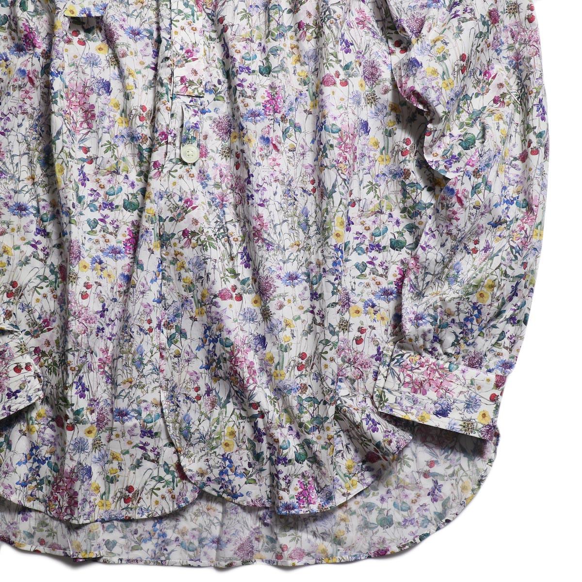 NEEDLES / Ascot Collar Edw Gather Shirt -Liberty Print(White) 裾
