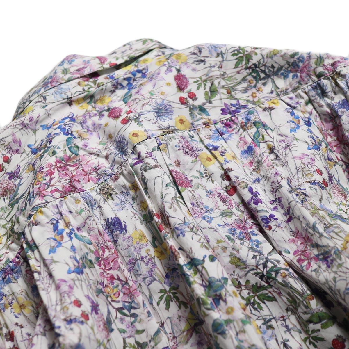 NEEDLES / Ascot Collar Edw Gather Shirt -Liberty Print(White) ギャザー