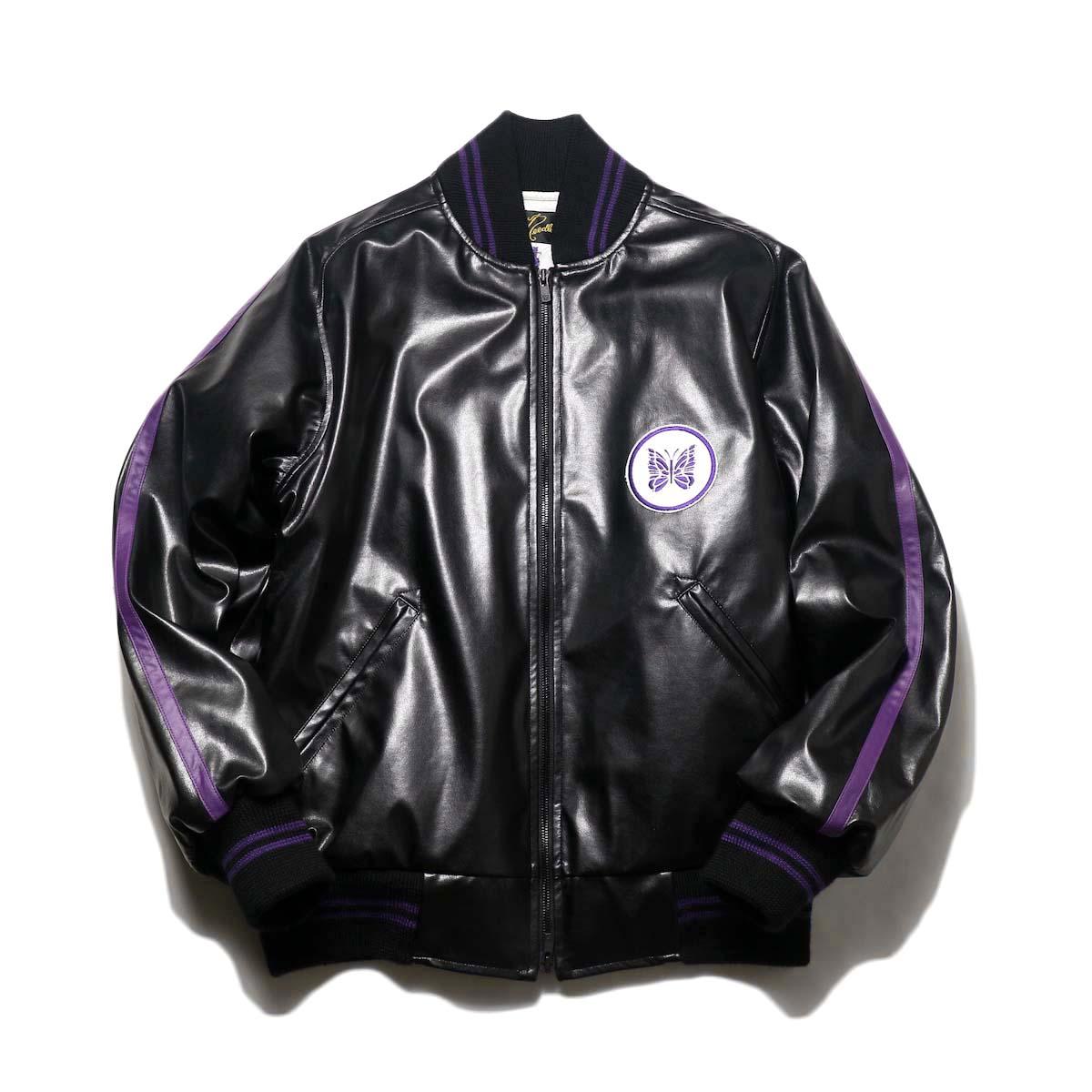 Needles / Award Jacket - Faux Lthr (Black)