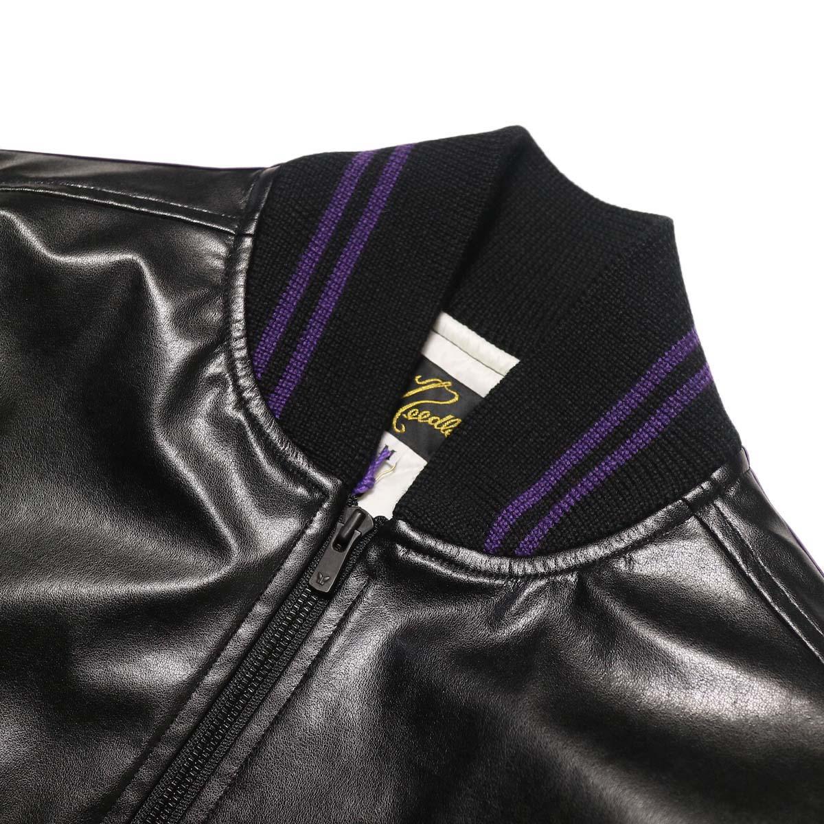 Needles / Award Jacket - Faux Lthr (Black)襟