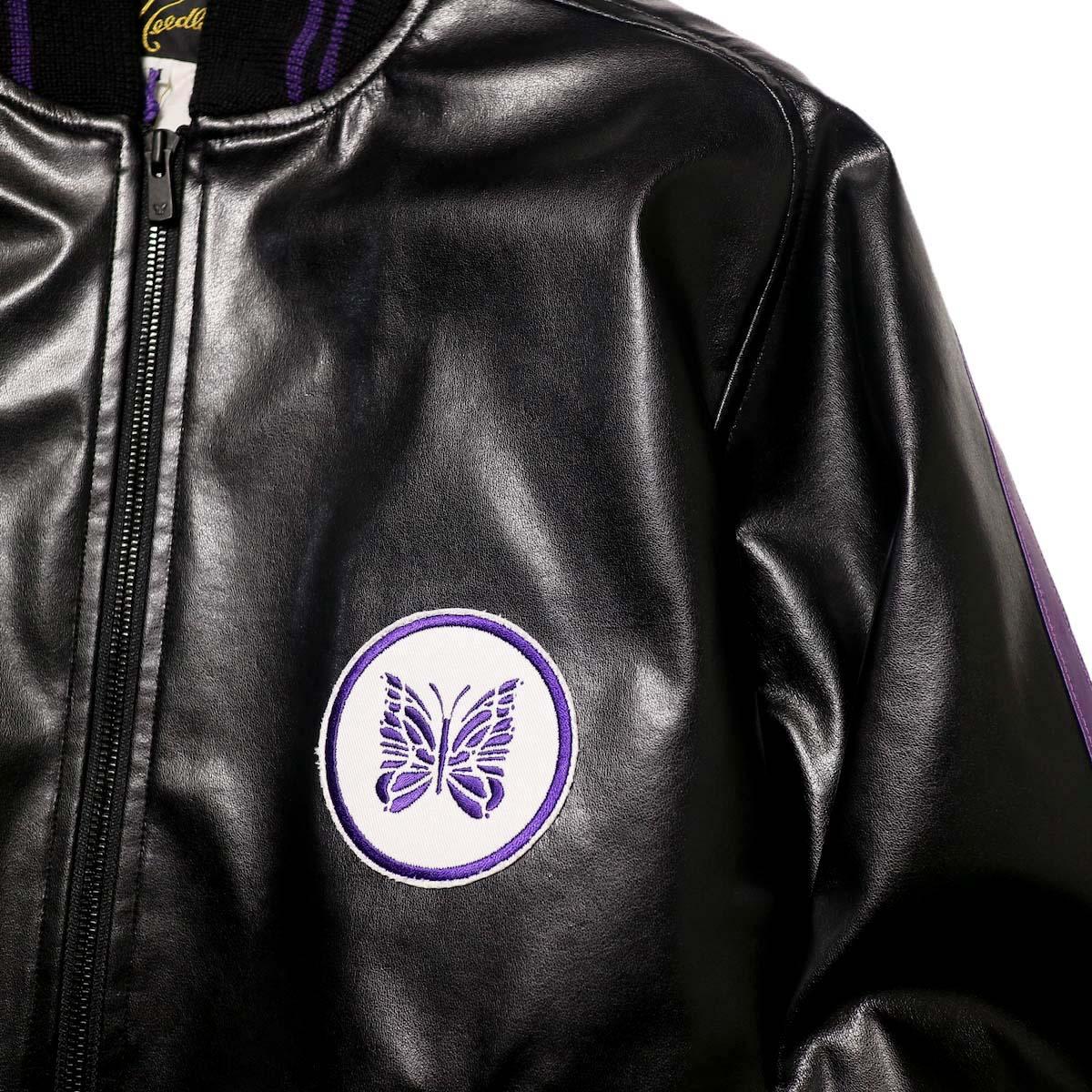 Needles / Award Jacket - Faux Lthr (Black)ワッペン