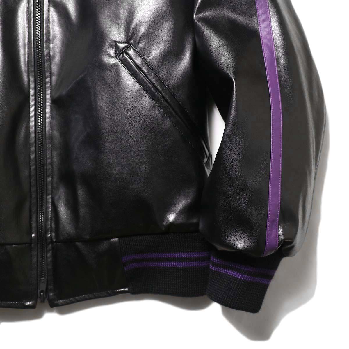 Needles / Award Jacket - Faux Lthr (Black)袖、裾