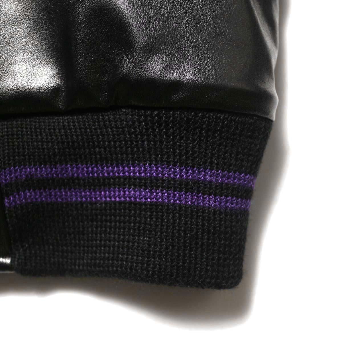 Needles / Award Jacket - Faux Lthr (Black)裾リブ