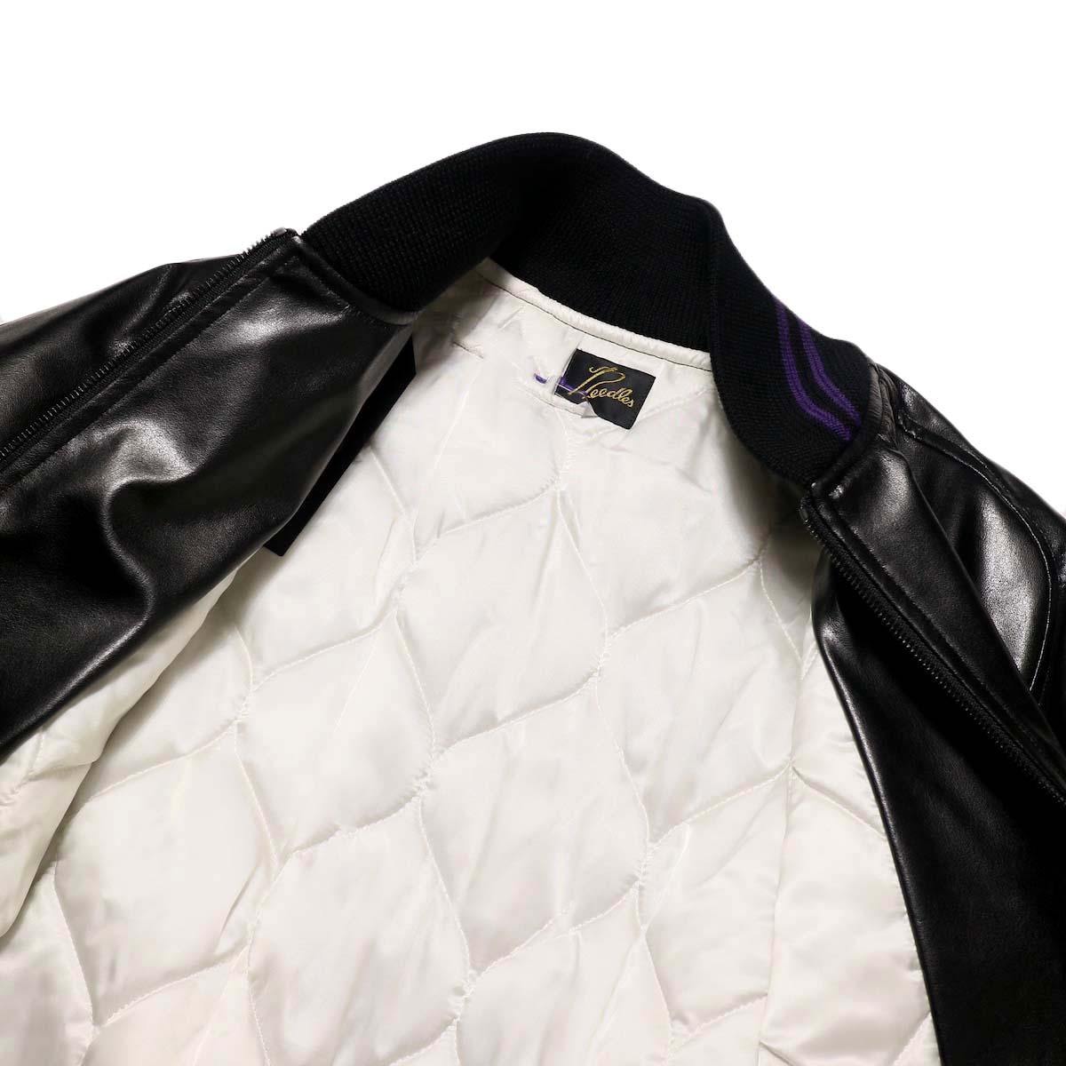 Needles / Award Jacket - Faux Lthr (Black)裏地