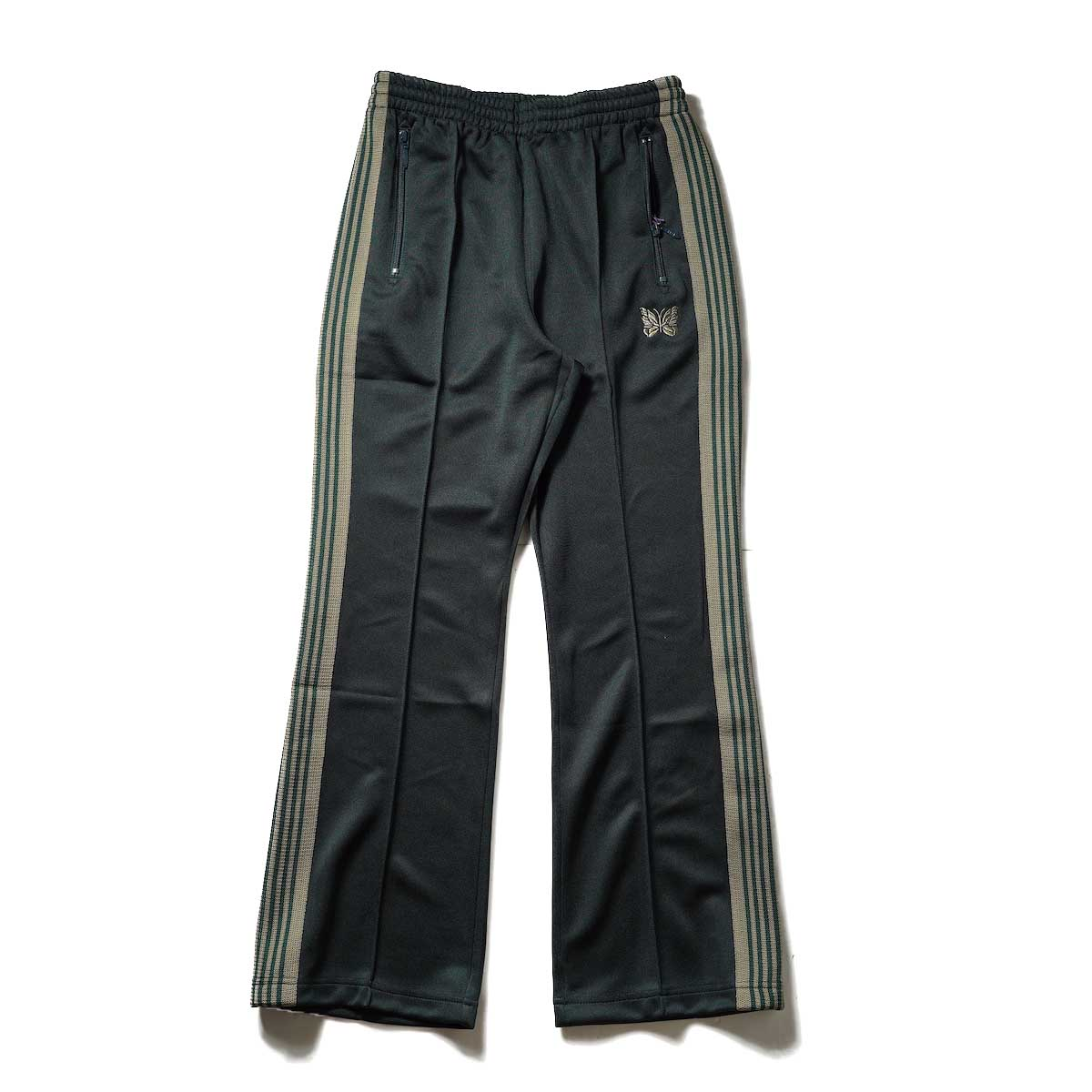 Needles / Boot-Cut Track Pant -Poly Smooth (Dk.Green)正面
