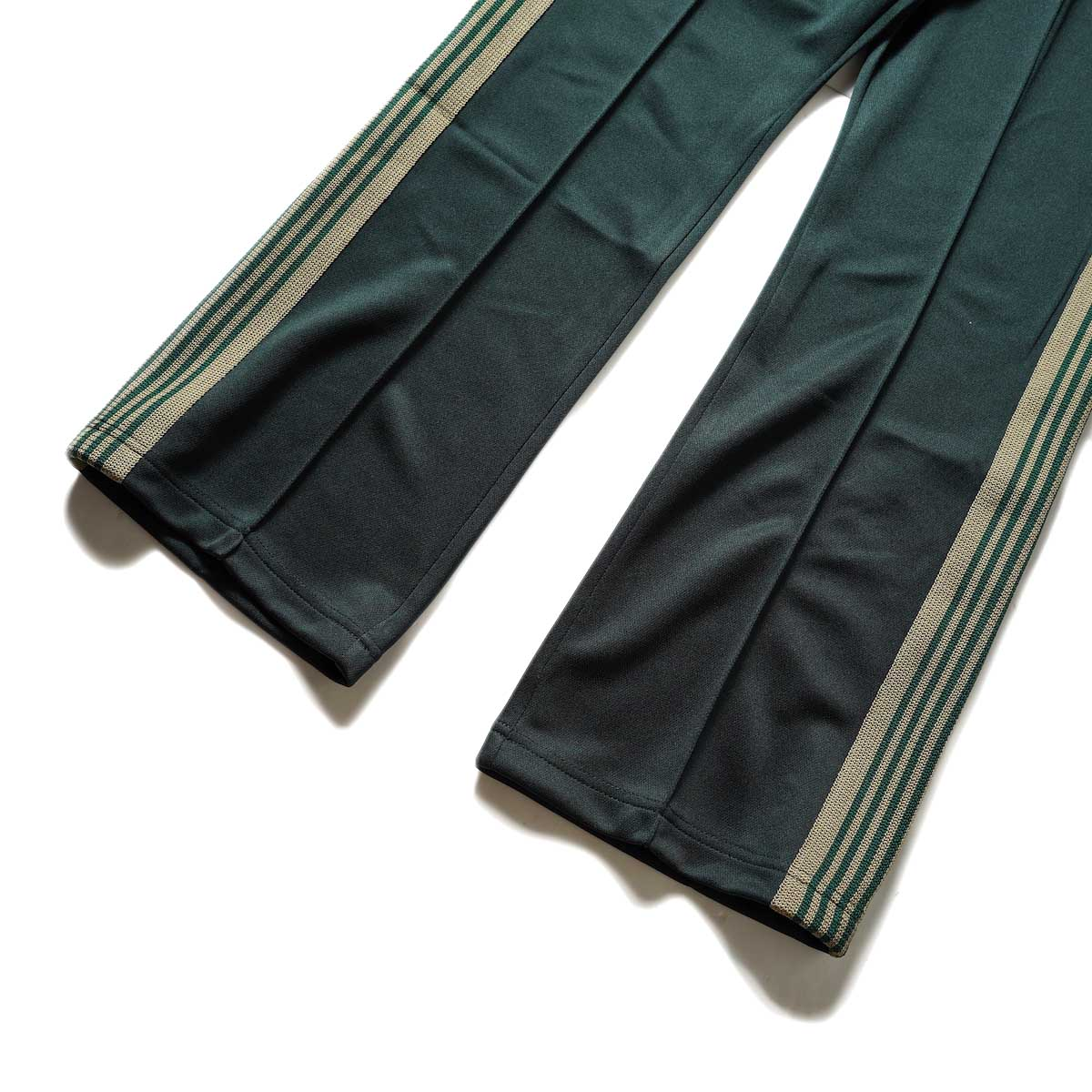 Needles / Boot-Cut Track Pant -Poly Smooth (Dk.Green)裾