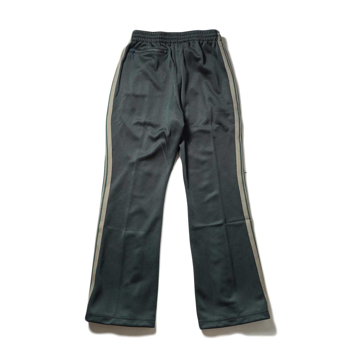 Needles / Boot-Cut Track Pant -Poly Smooth (Dk.Green背面