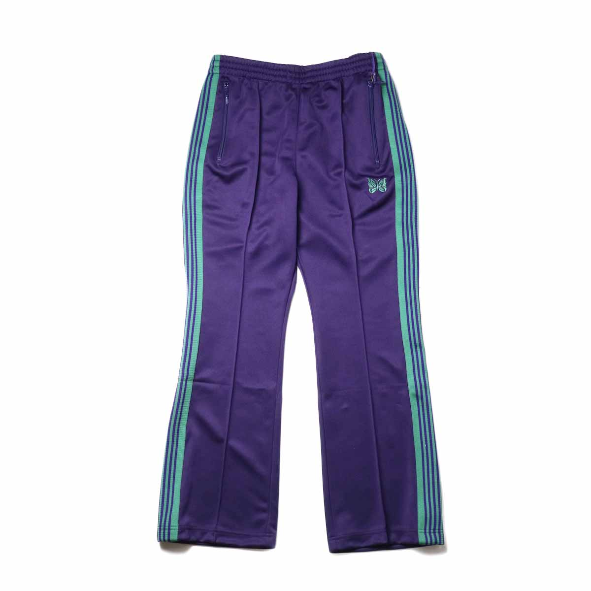Needles / Boot-cut Track Pants -Poly Smooth (Eggplant)