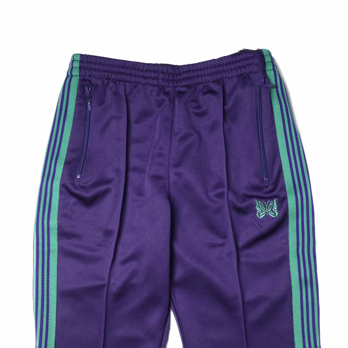Needles / Boot-cut Track Pants -Poly Smooth (Eggplant)ウエスト