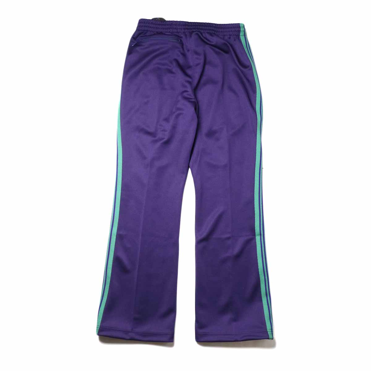 Needles / Boot-cut Track Pants -Poly Smooth (Eggplant背面