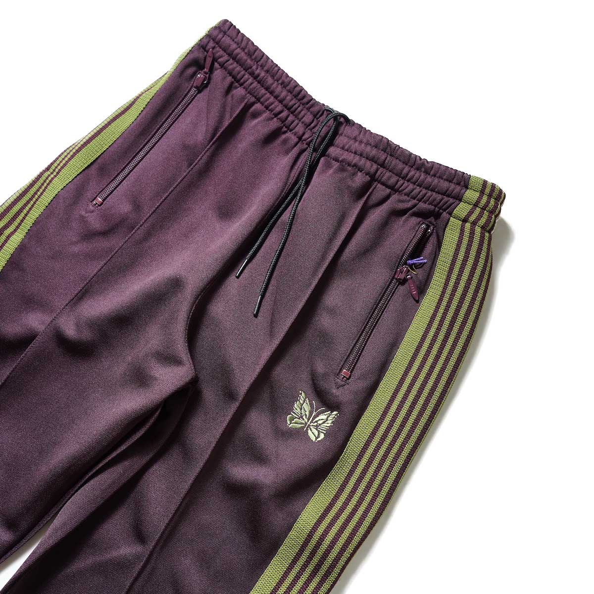 Needles / Boot-Cut Track Pant -Poly Smooth (Maroon)ウエスト