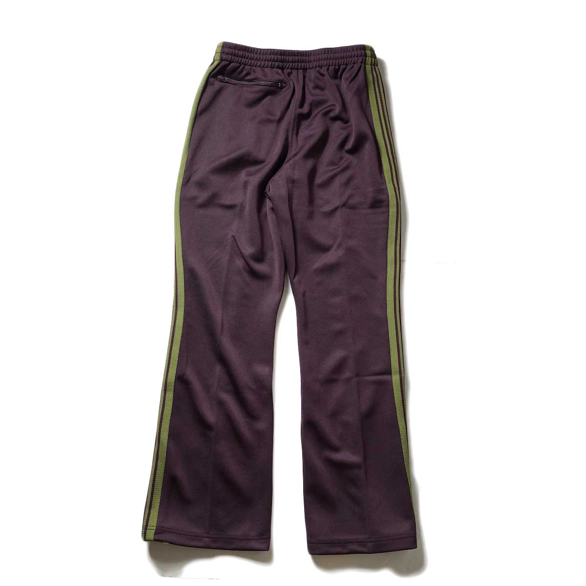 Needles / Boot-Cut Track Pant -Poly Smooth (Maroon)背面