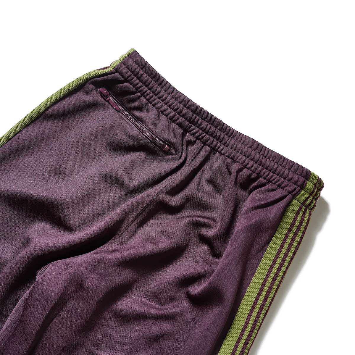 Needles / Boot-Cut Track Pant -Poly Smooth (Maroon)ヒップポケット