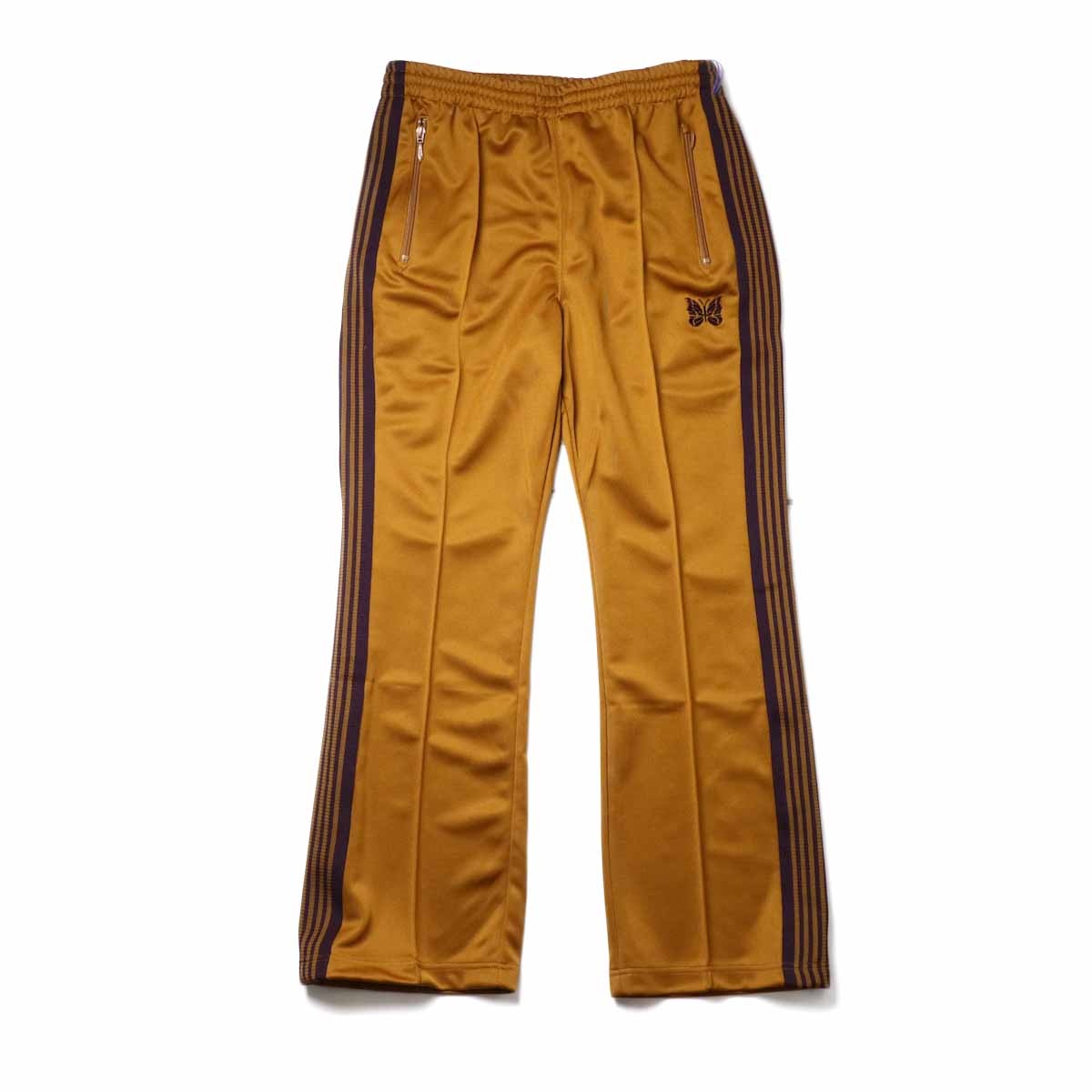 Needles / Boot-cut Track Pants -Poly Smooth (Mustard)正面