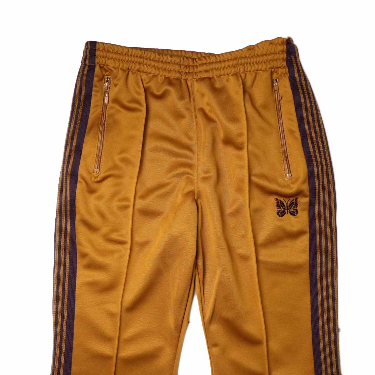 Needles / Boot-cut Track Pants -Poly Smooth (Mustard)ウエスト