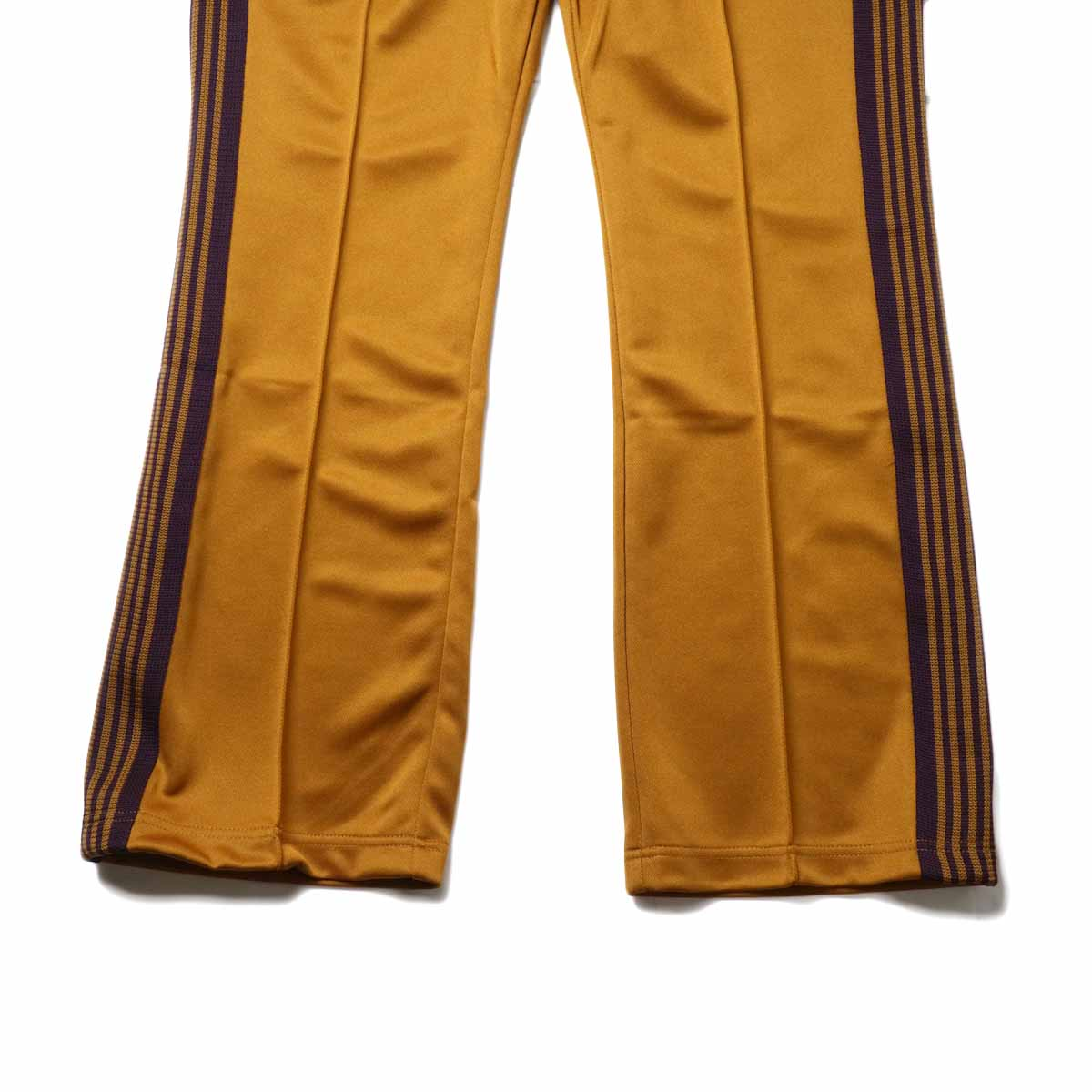Needles / Boot-cut Track Pants -Poly Smooth (Mustard)裾