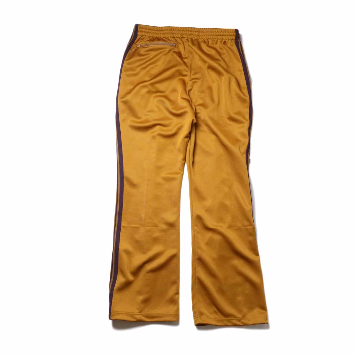 Needles / Boot-cut Track Pants -Poly Smooth (Mustard)背面
