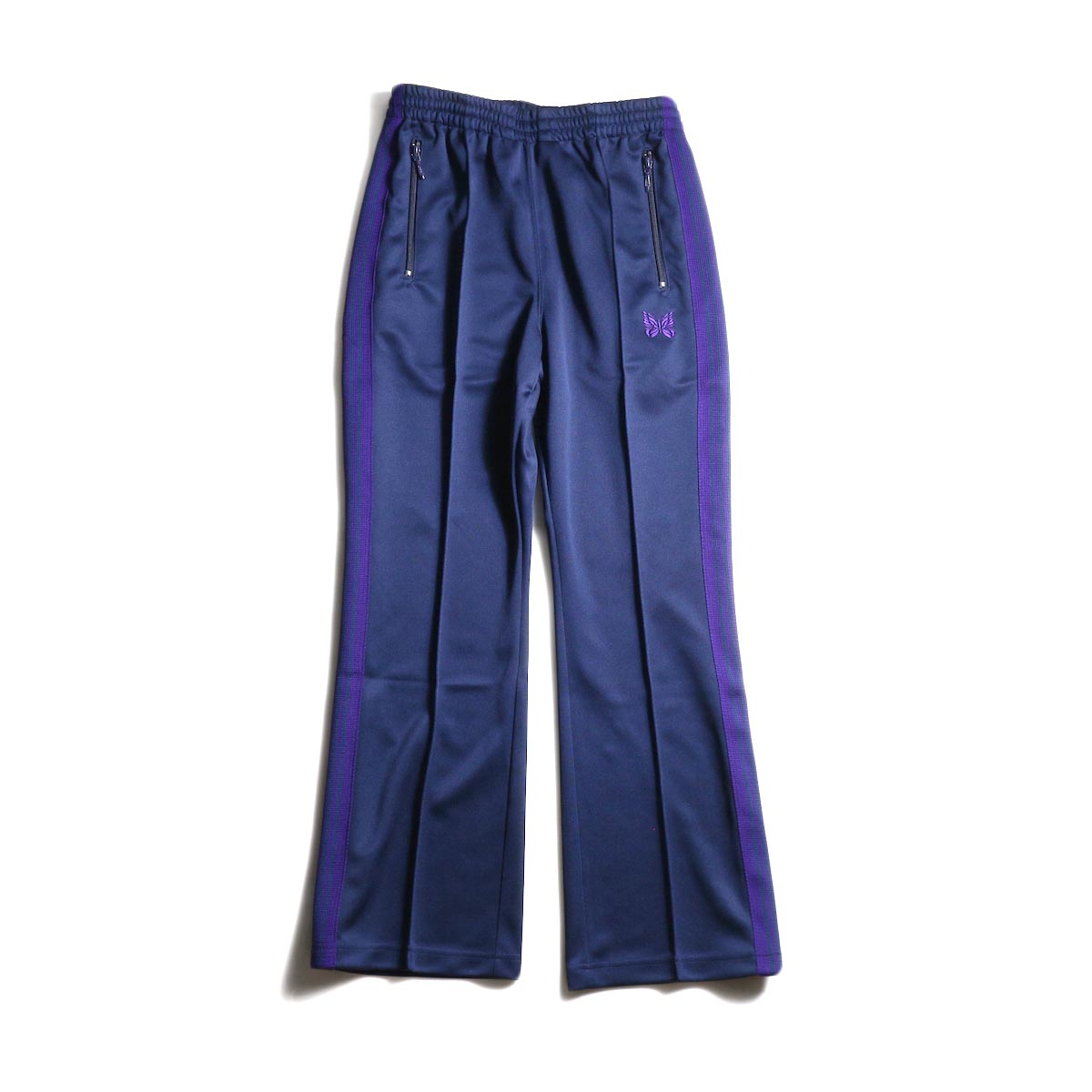 Needles / Boot Cut Track Pant -Poly Smooth (Navy) 正面