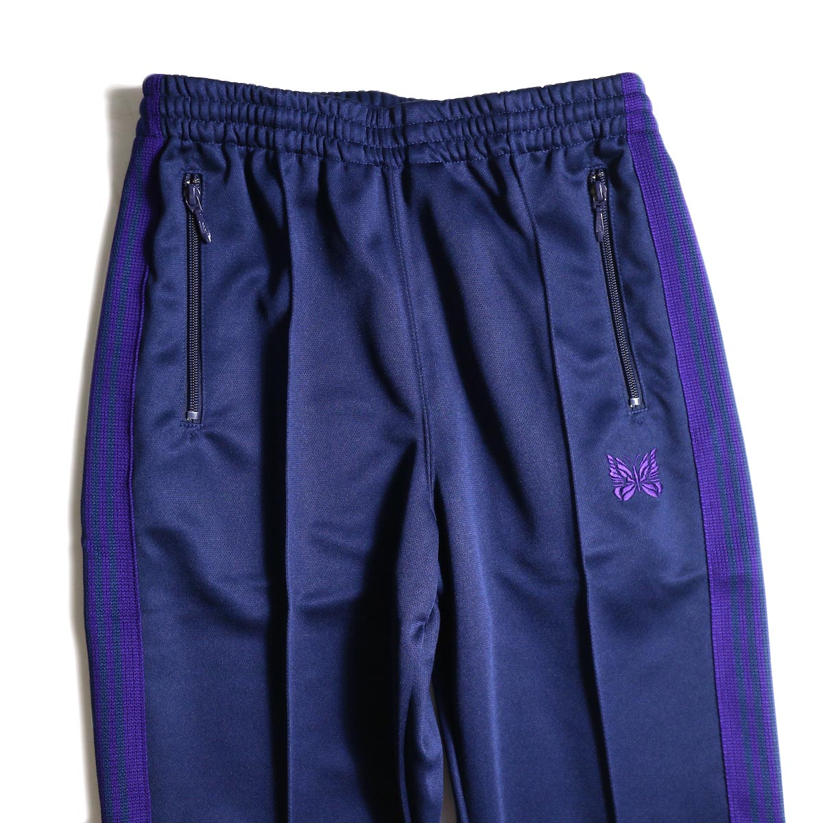 Needles / Boot Cut Track Pant -Poly Smooth (Navy) ウエスト