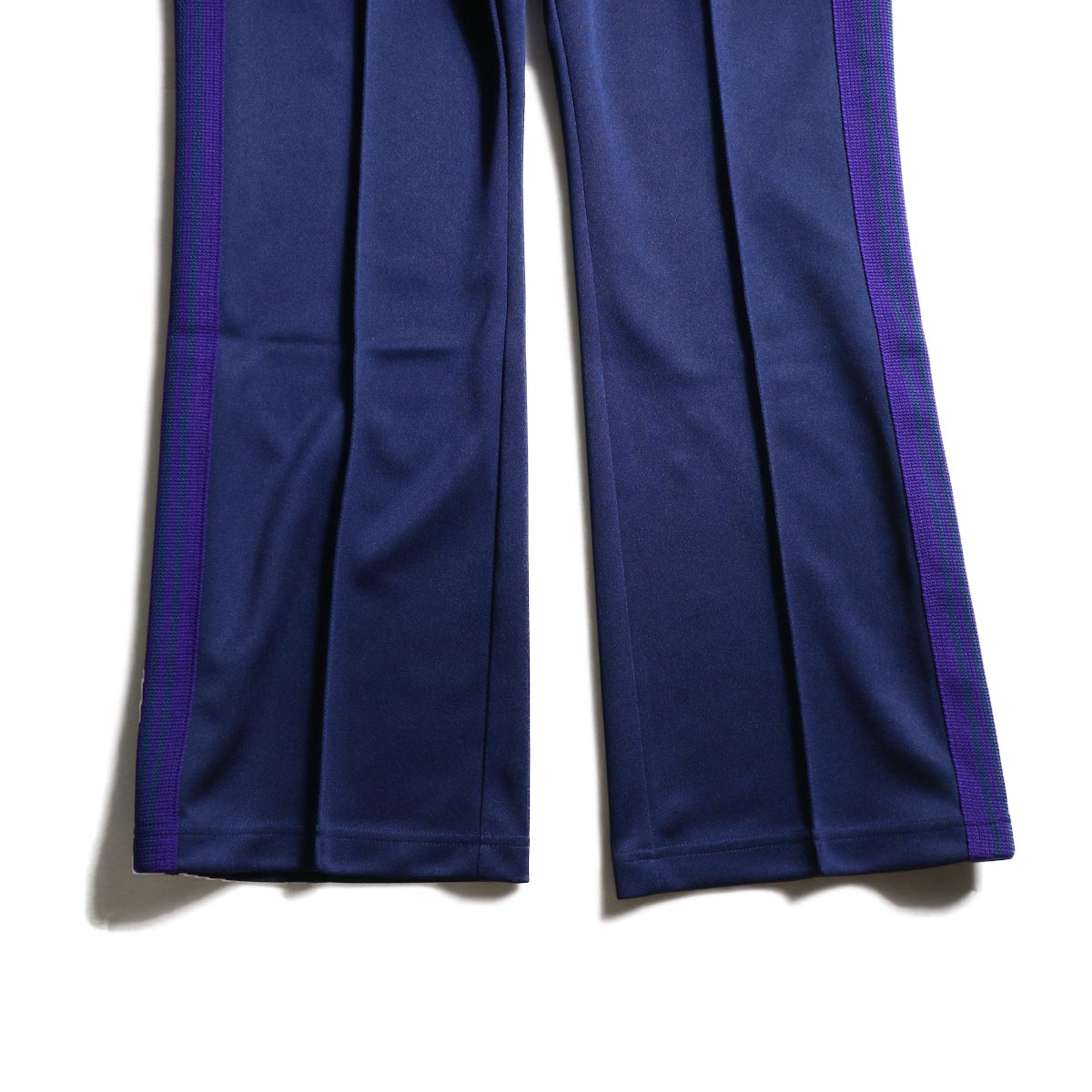 Needles / Boot Cut Track Pant -Poly Smooth (Navy) 裾