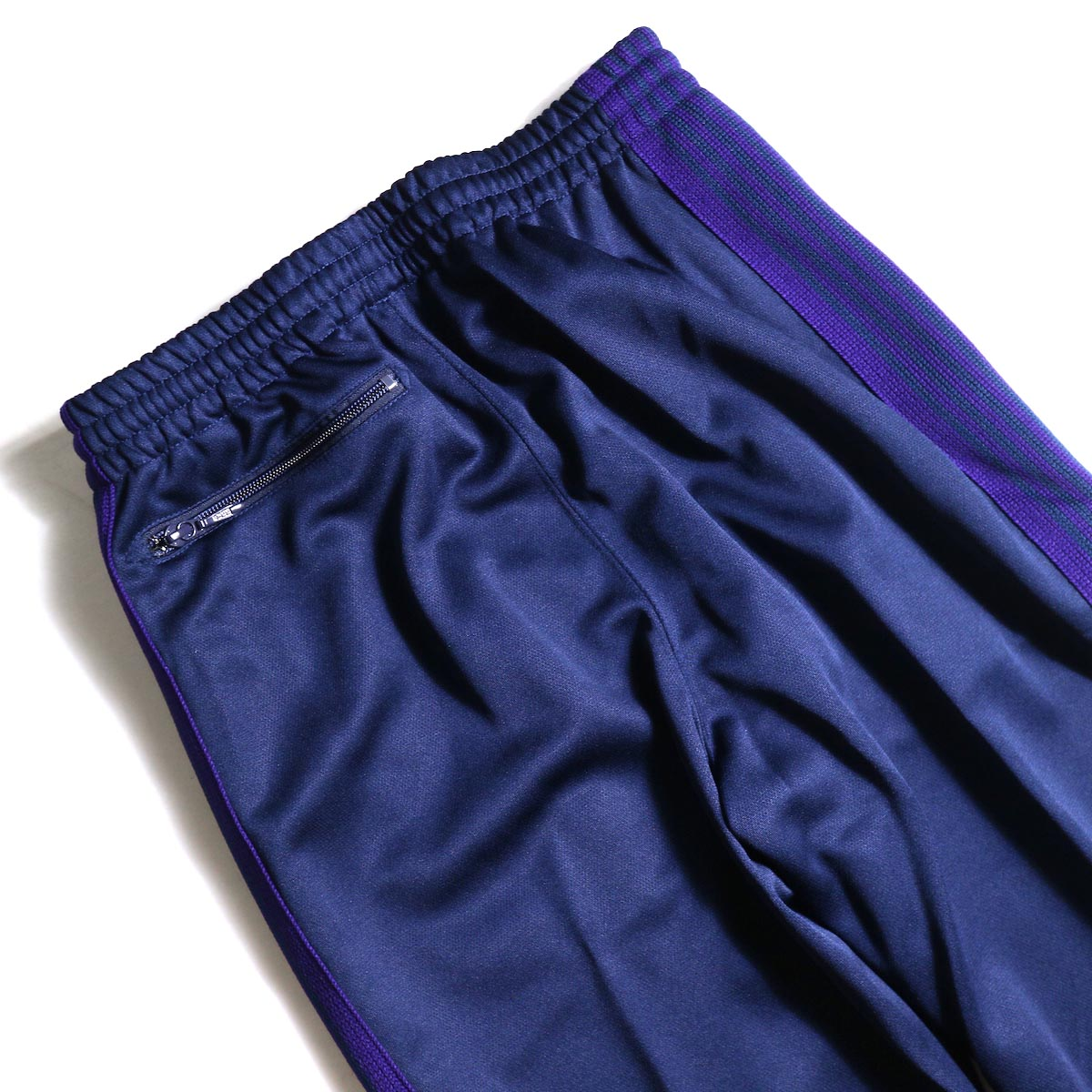 Needles / Boot Cut Track Pant -Poly Smooth (Navy) ヒップポケット