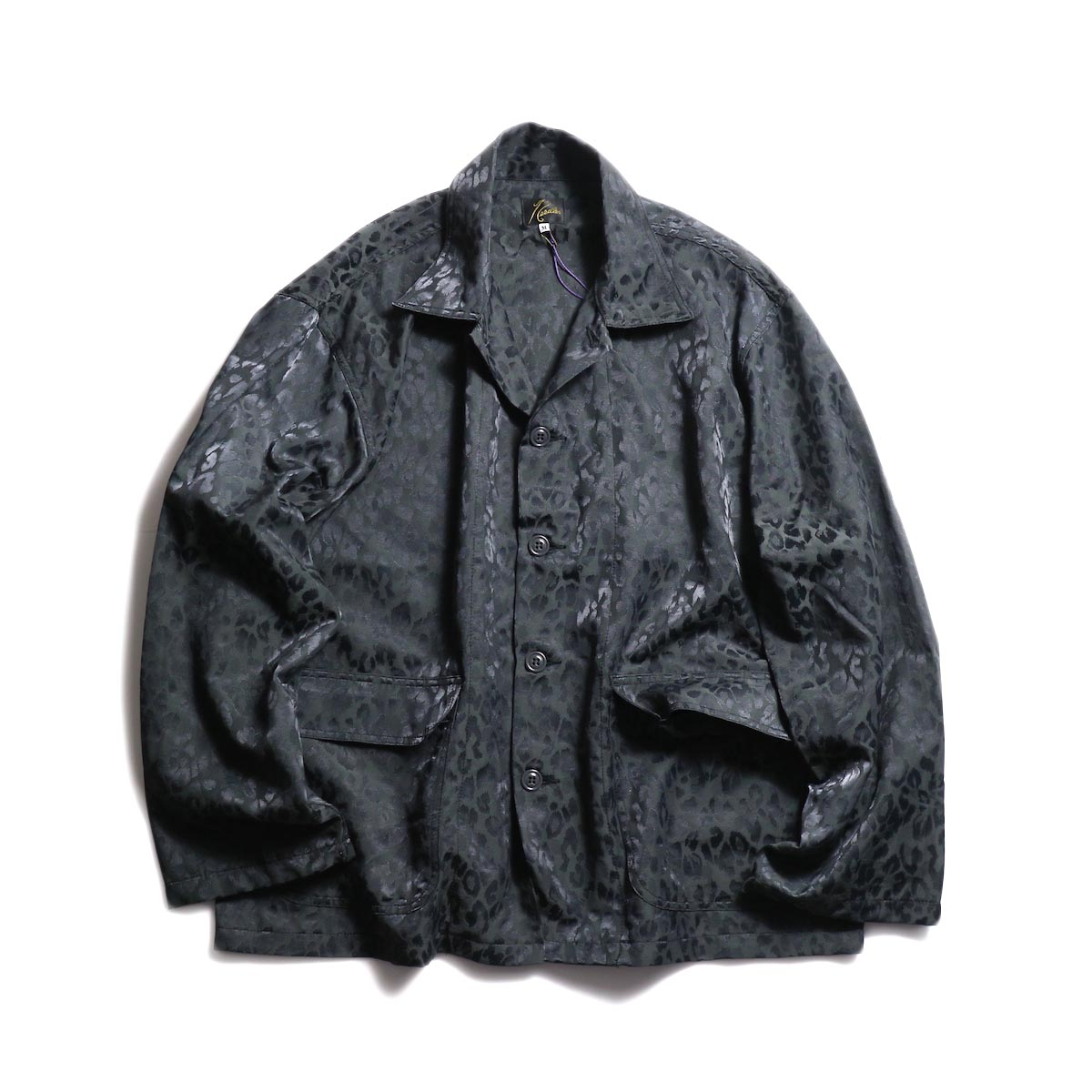 NEEDLES / Bush Jacket -c/n Leopard Jacquard