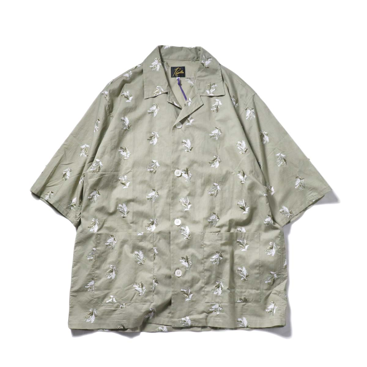 Needles / Cabana Shirt  - Plant Emb. (Green)