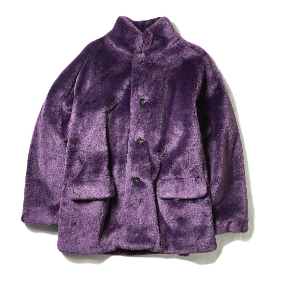 Needles / S.C. Car Coat - Faux Fur (Purple) 正面