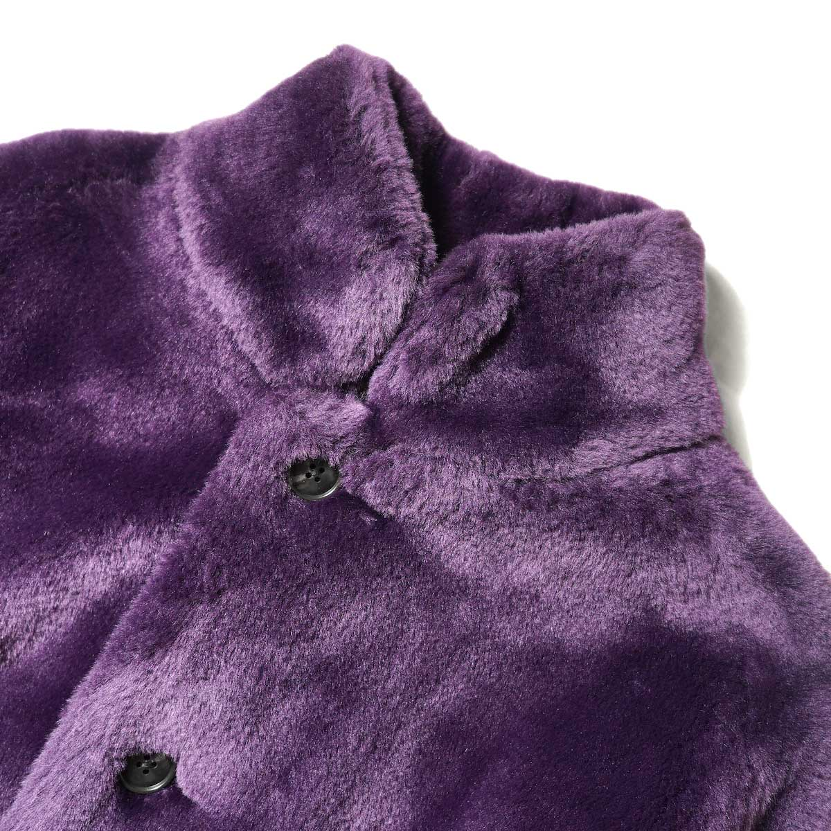 Needles / S.C. Car Coat - Faux Fur (Purple) 襟