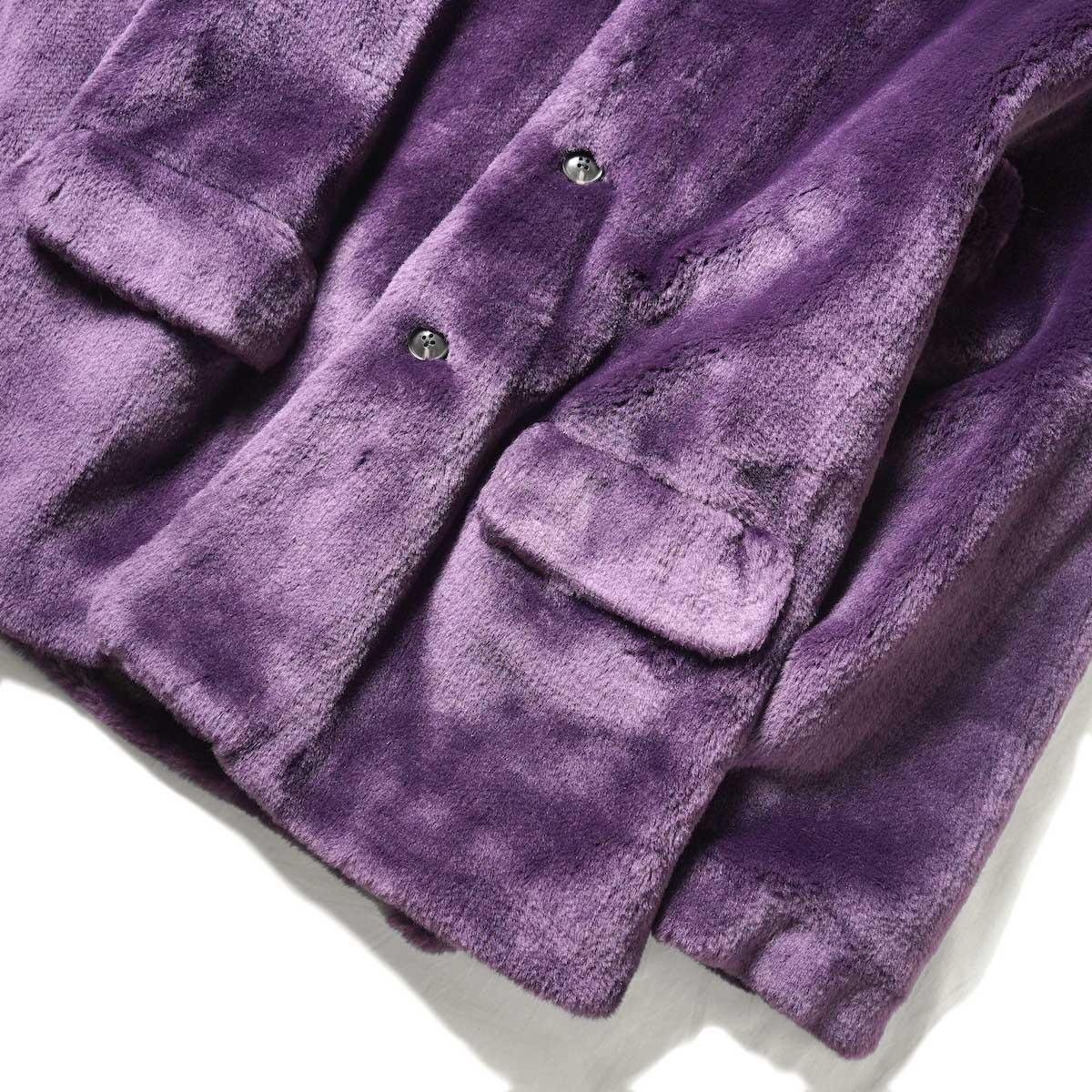 Needles / S.C. Car Coat - Faux Fur (Purple) 袖・裾