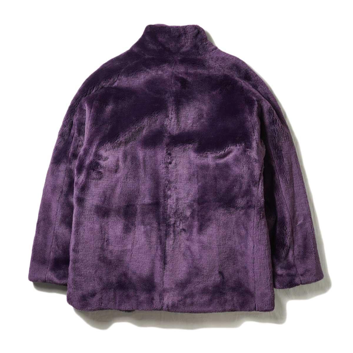 Needles / S.C. Car Coat - Faux Fur (Purple) 背面
