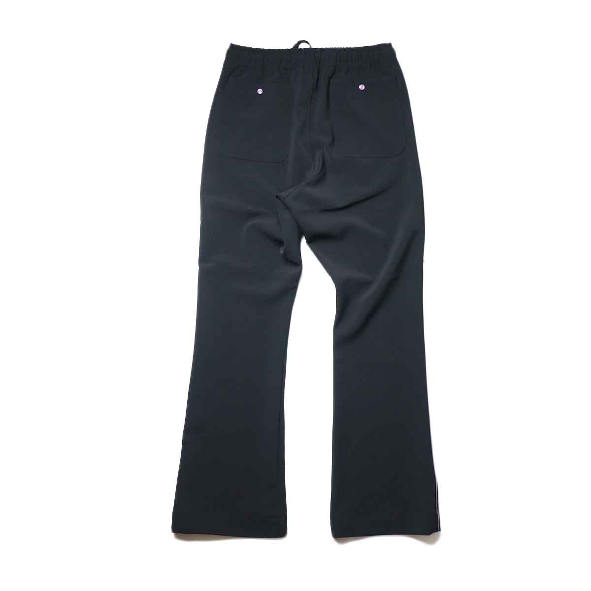 Needles / PIPING COWBOY PANT - PE/PU DOUBLE CLOTH (Black)背面