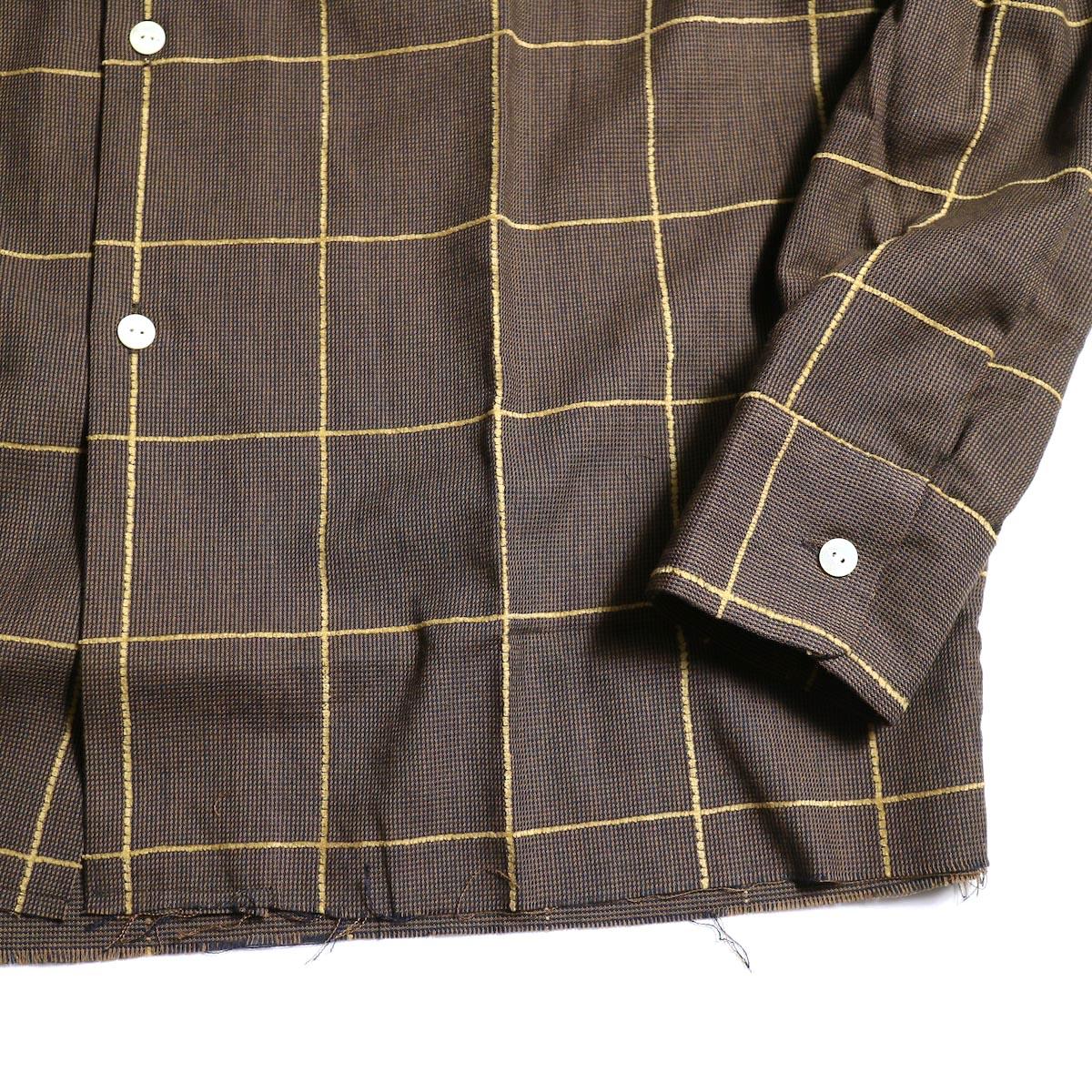 Needles / C.O.B. CLASSIC SHIRT -C/PE/R PLAID TWILL裾、袖