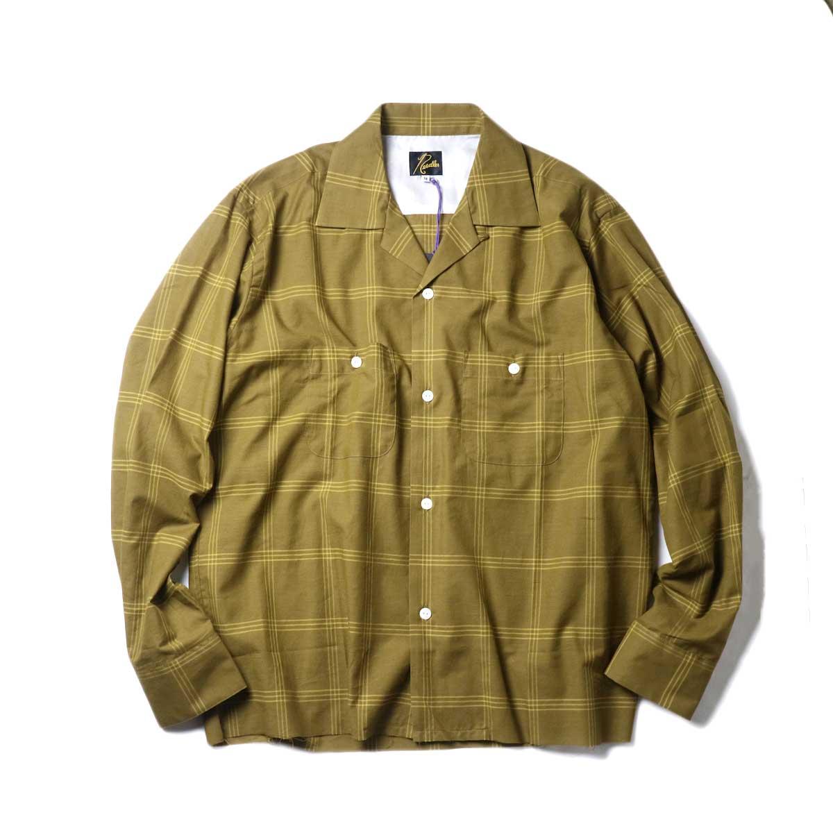 Needles / C.O.B One-Up Shirt -C/S Plaid (Brown)