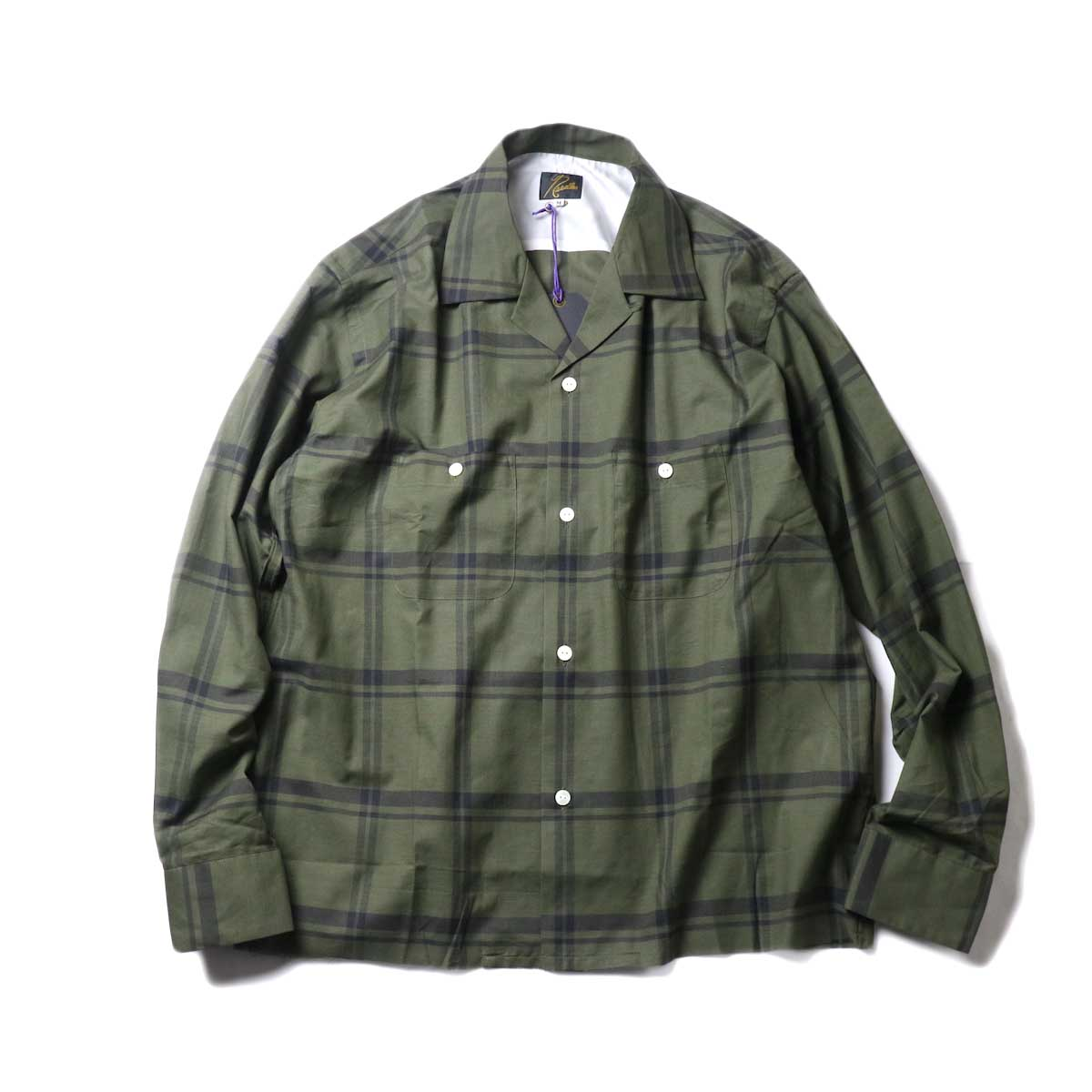 Needles / C.O.B One-Up Shirt -C/S Plaid (Olive)