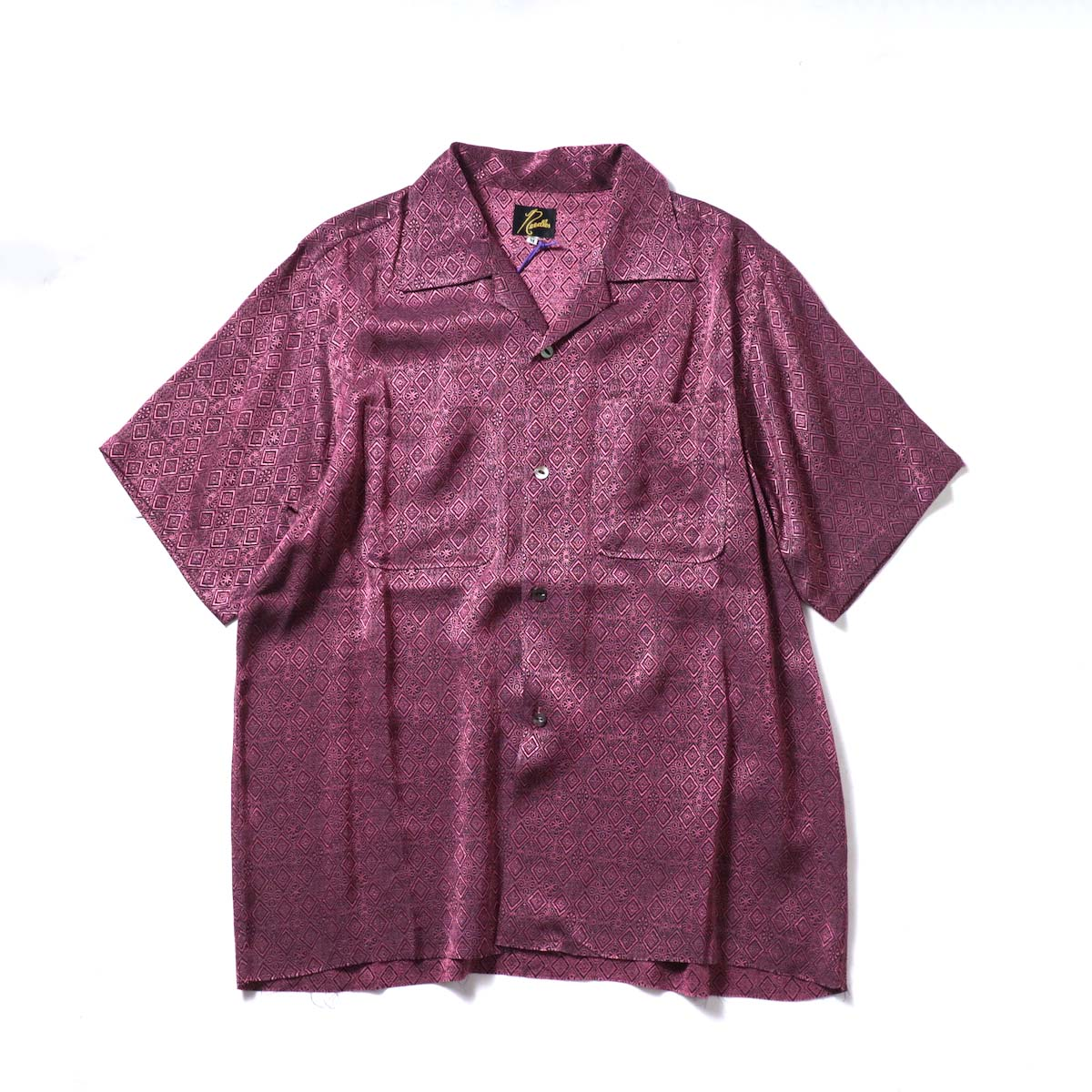 Needles / C.O.B. S/S One-Up Shirt -Fine Pattern Jq. (Diamond)