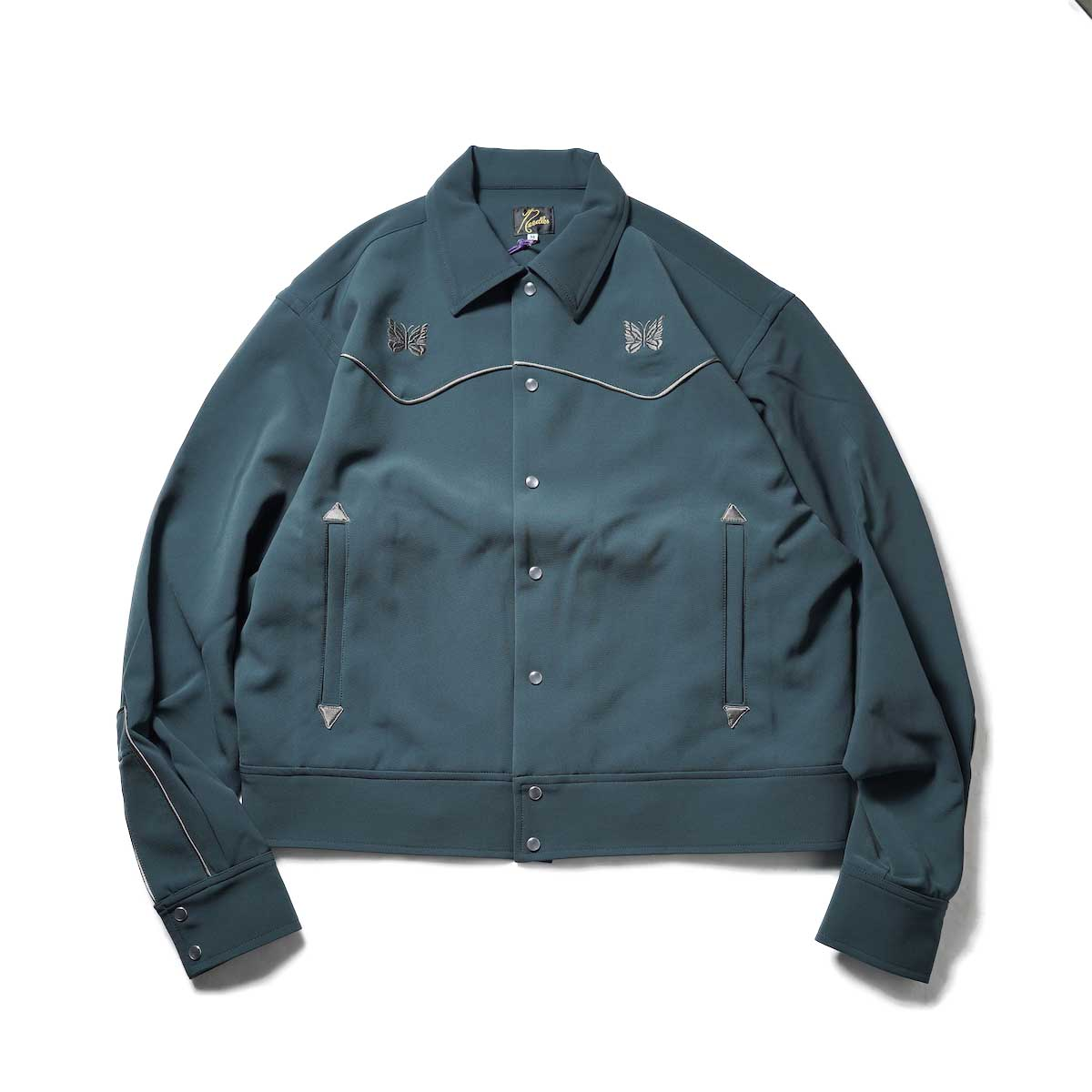 Needles / PIPING COWBOY JAC - Pe/Pu Double Cloth (Green)