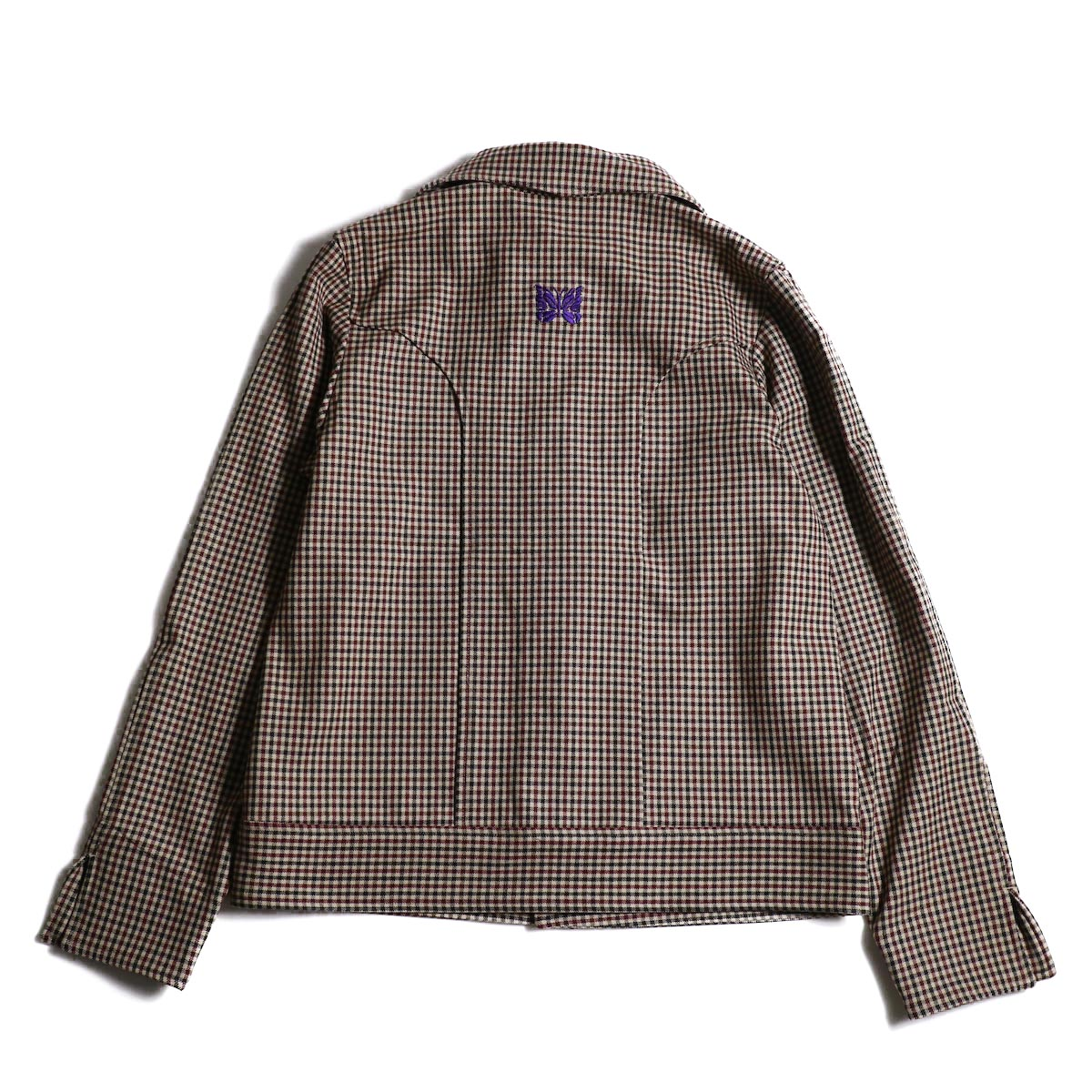 Needles / Cowboy Leisure Jacket -Gunclub Plaid (Bordeaux)背面