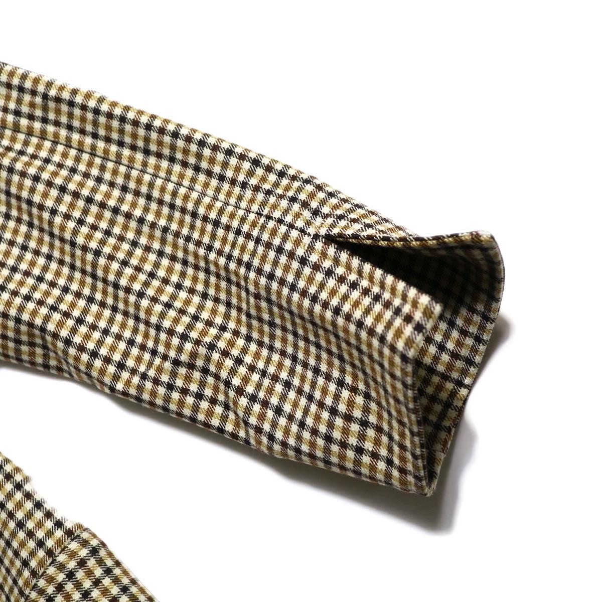 Needles / Cowboy Leisure Jacket -Gunclub Plaid (Yellow)袖の処理