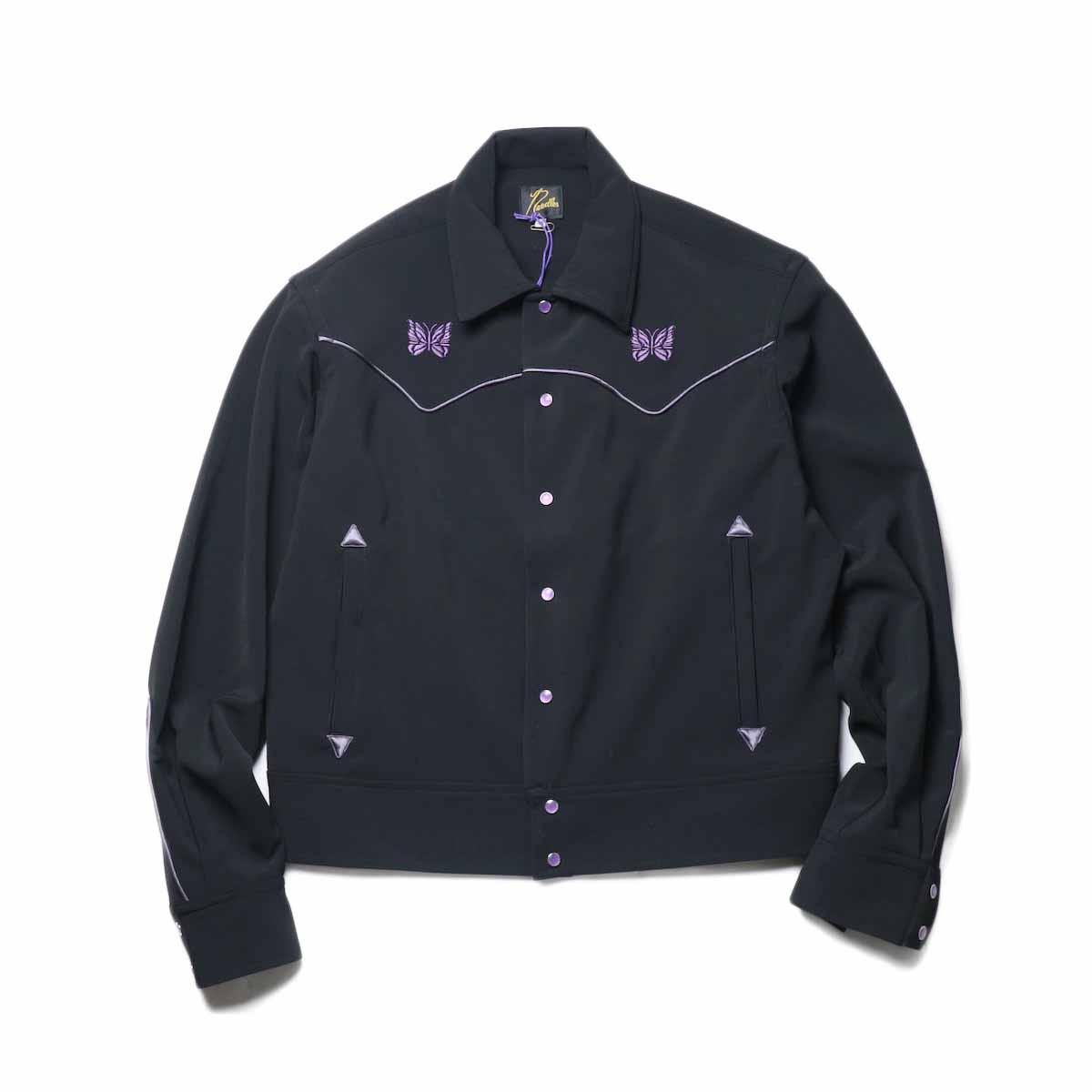 Needles / PIPING COWBOY JAC - PE/PU DOUBLE CLOTH (Black)