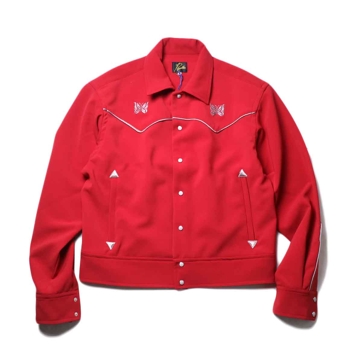 Needles / PIPING COWBOY JAC - PE/PU DOUBLE CLOTH (Red)