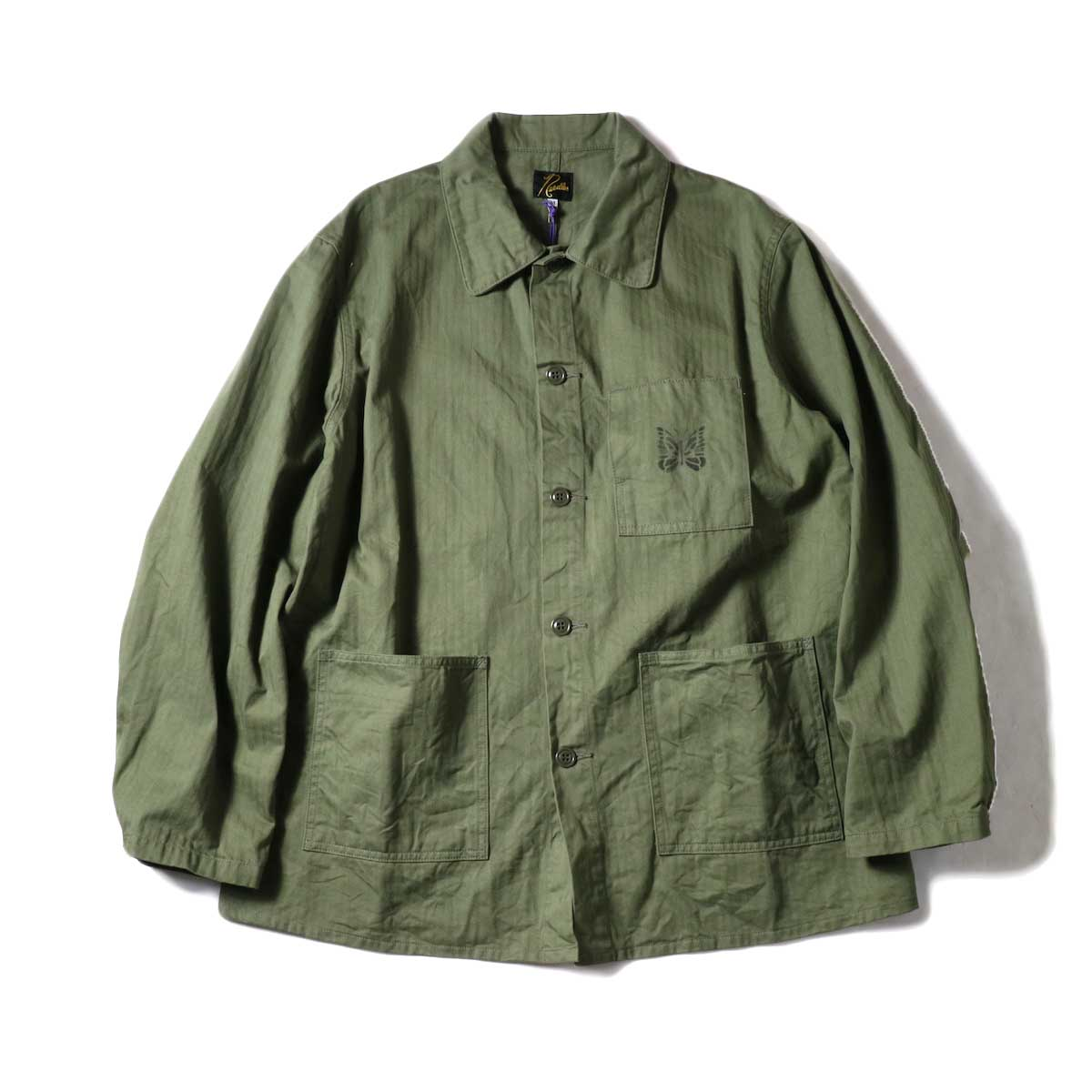 Needles / D.N. Coverall - Cotton Herringbone (Olive)